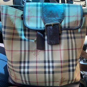 Burberry Haymarket check backpack